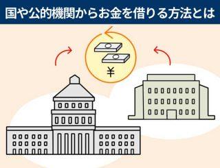 国や公的機関からお金を借りる公的融資とは
